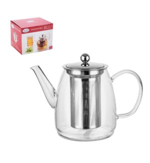 Tea Pot Borosilicate Glass 900ml with Stainless Steel Filter 643700294166