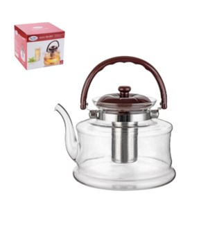 Tea Pot High Borosilicate Glass 3L with Stainless Steel Filt 643700294180