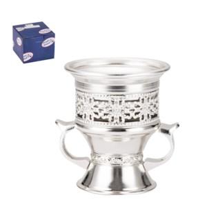 Incense Burner Iron 4x3.5x4in Silver                         643700296399