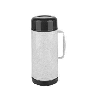 Thermos PP 1Liter Grey and Dark Grey Wide Mouth with Foam    643700296832