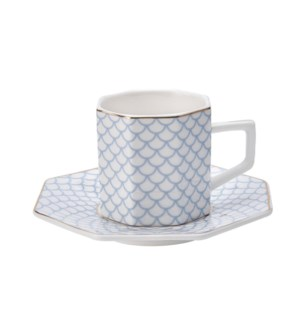 Coffee Cup and Sauce 6 by 6,3.5oz,New Bone China             643700300300