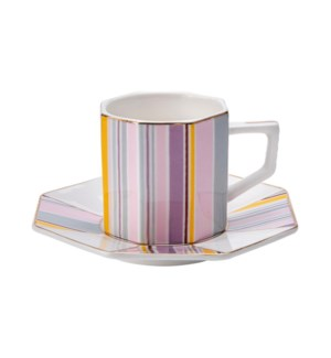 Coffee Cup and Sauce 6 by 6,3.5oz,New Bone China             643700300317