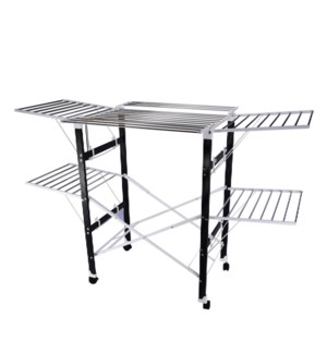 Double Layer Cloth Drying Rack SS 68x32x5.5in Retractable wi 643700301123