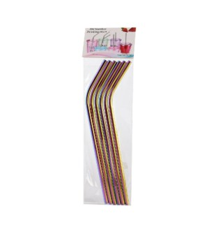Curved Straw 6pc Set SS 8.5in 65g Gradient                   643700301864