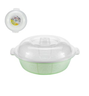 Colander Plastic 13x11.5x6in with Basin and Lid              643700302113