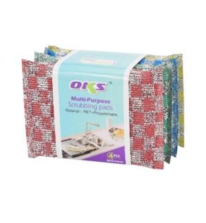 Multi-Purpose Scrubbing Pad 4pc Set 5.12x3.54in              643700302427