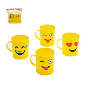 Emoji Mug 4pc Set 3.15x3.15x3.54in, PP                       643700302649