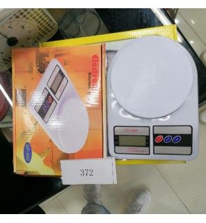 Kitchen Scale 9x6.5in, Max 10kg                              643700302977