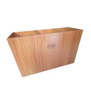 BBQ Skewer Case Wood 23.5x15.5x8in,with Alpine Cuisine Logo  643700304544