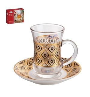 Tea Glass 6 by 6 Set 10.2oz                                  643700306074