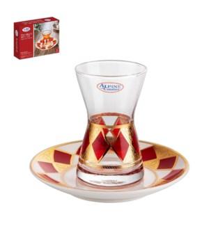 Tea Glass 6 by 6 Set 9.5oz                                   643700306081