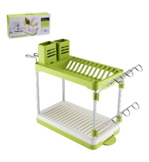 Dish Rack 16x13x8.5in with Tray and Cutlery Holder           643700306760