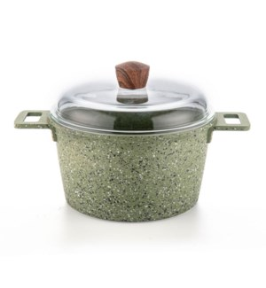 Dutch Oven Alum.3.4Qt Green Nonstick Coating and Painting,wi 643700307057