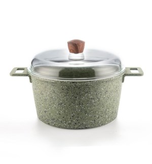 Dutch Oven Alum. 8.5Qt Green Nonstick Coating and Painting,w 643700307071