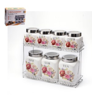 Canister 7pc Set Ceramic                                     643700307347