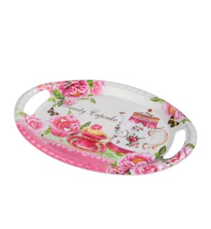 Oval Serving Tray Melamine 20.5x14in                         643700307385