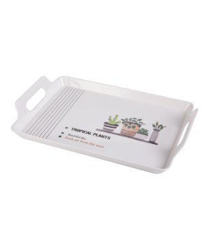 Rect. Serving Tray Melamine 18x12in                          643700307415