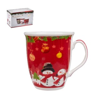 Jumbo Mug 2pc Set 19oz with Christmas Design New Bone China  643700309242