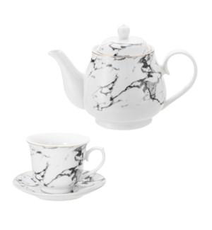 Tea Set 15pc with Rack Porcelain                             643700309808