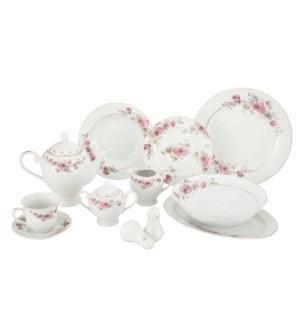 Dinner Set 49pc Svc 8, Porcelain Super White Round Shape     643700311115