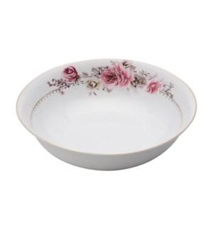 Salad Bowl 9in,Porcelain Super White Round Shape             643700311405