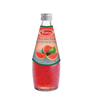 Basil Seed Drink Watermelon Flavors Glass 290mL Bettino      643700312853