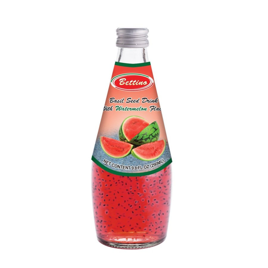 Bettino Watermelon Basil Seed Drink 9.8floz 290ml            643700312853