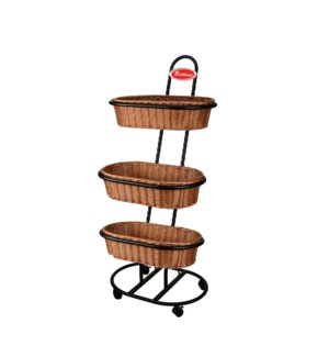 Basket Rack For Nut 24x30.5x55in with 3pc Tawny Oval Solid P 643700313324