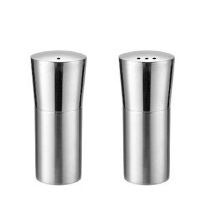 Salt and Pepper Shaker 2pc Set SS 1.5x3in                    643700315076