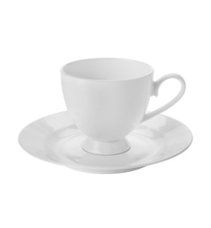 Tea Cup and Saucer 6 by 6,8.5Oz,Bone China                   643700315359
