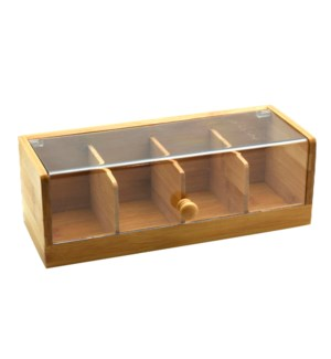 Bamboo Tea Box 11.5x5x4in                                    643700315946