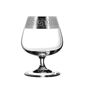 Brandy Glass 6pc 13.85 oz L Set Silver Baroque Pattern       643700324726