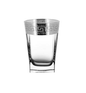 Shot Glass 6pc 2.2 OZ  Set  Silver  Baroque Pattern          643700324764