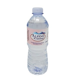 Water 500mL Plastic Bottle 24 Pack Alpine Cuisine            643700328625