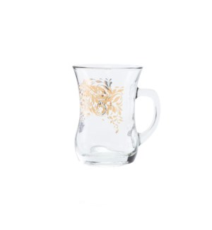 Glass Mug 2Pc Folia Gold 7.60oz                              643700328649
