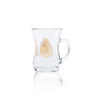 Glass Mug 2Pc Greek Gold 7.60oz                              643700328656