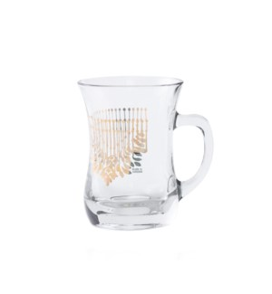 Glass Mug 2Pc Cortina Gold 7.60oz                            643700328663