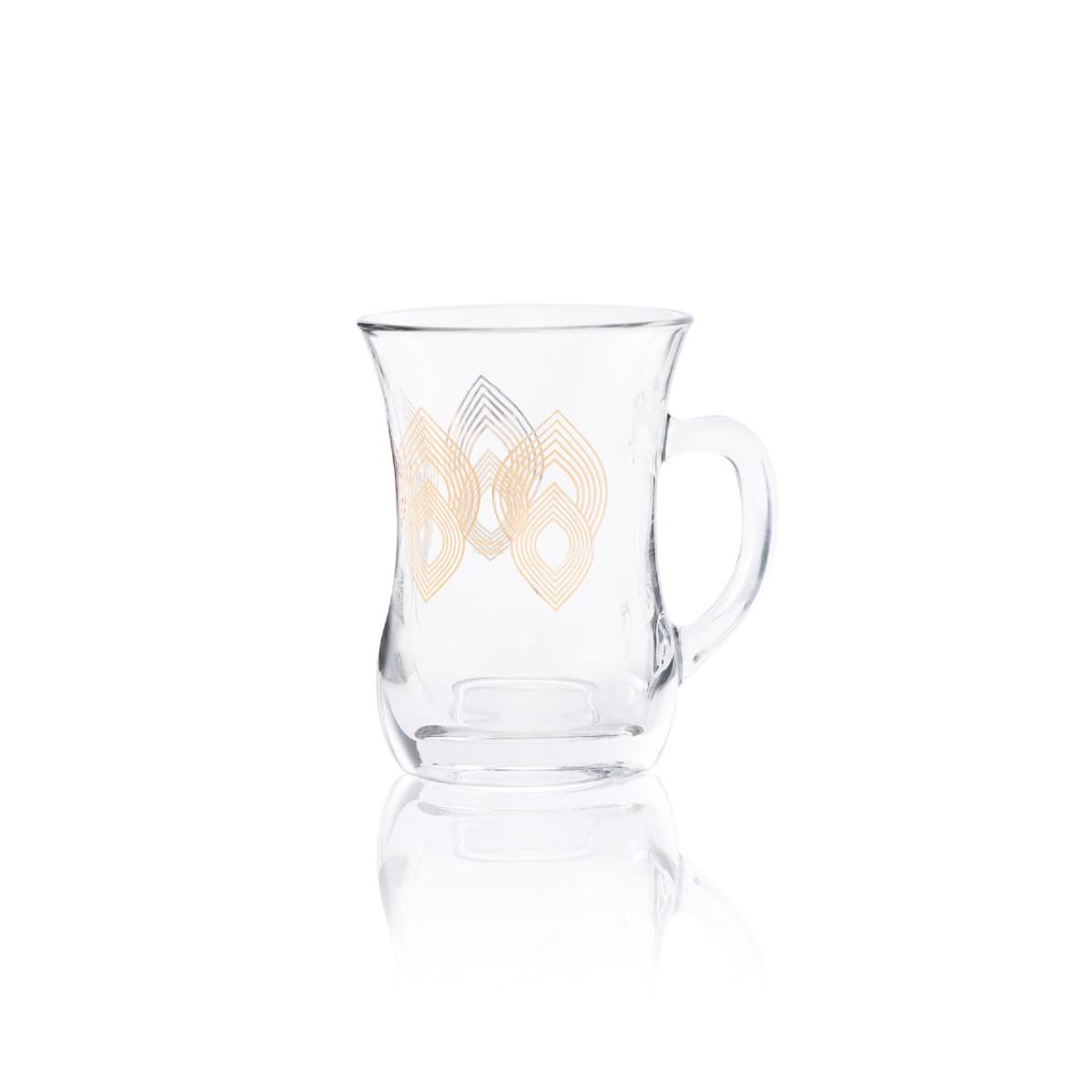 Glass Mug 2Pc Mirage Gold 7.60oz                             643700328700