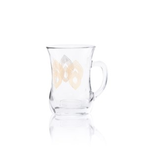 Glass Mug 2Pc Mirage Gold 7.60oz                             643700328700