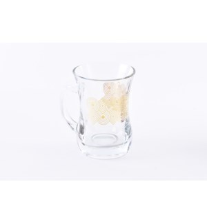 Glass Mug 2Pc Arena Gold 7.60oz                              643700328717