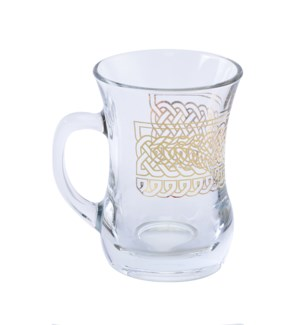 Glass Mug 2Pc Infinity Gold 7.60oz                           643700328724