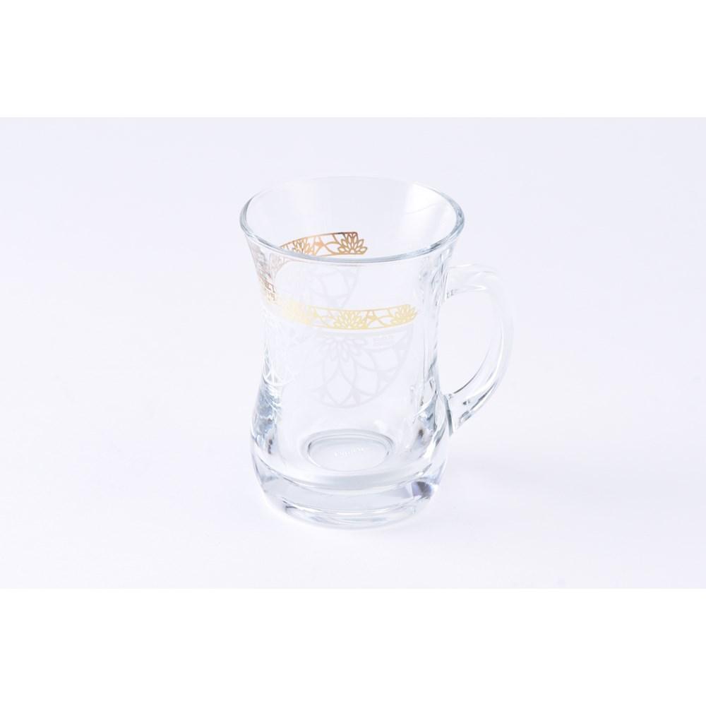 Glass Mug 2Pc Twist Gold Green 7.60oz                        643700328748