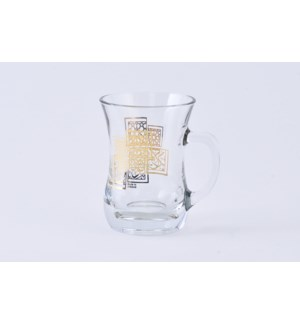 Glass Mug 2Pc Farah Gold 7.60oz                              643700328755