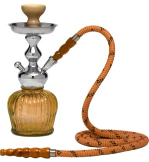 """EQT mini Hooka 14""""  in wire Basket - Amber""                643700330635"