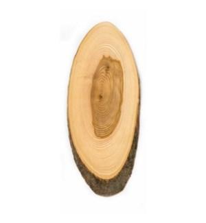 Bark Plate Round Varnished Ash Wood 33cm                     643700330864