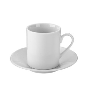 """Coffee Cup and Saucer 6 by 6,3oz Porcelain""                 643700332684"