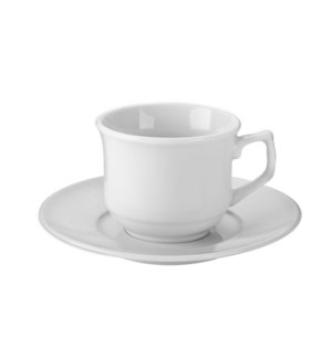 """Coffee Cup and Saucer 6 by 6,3oz Porcelain""                 643700332691"