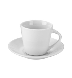 """Coffee Cup and Saucer 6 by 6,3oz Porcelain""                 643700332738"