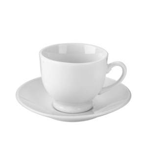 """Coffee Cup and Saucer 6 by 6,3oz Porcelain""                 643700332745"