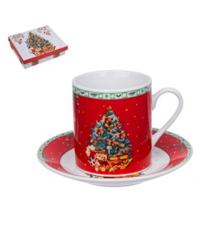 """Coffee cup and saucer 6 by 6,3.4 oz,Porcelain""              643700343598"
